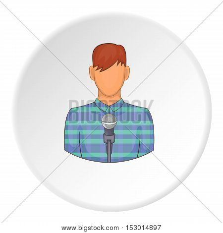 Singer icon. Flat illustration of singer vector icon for web