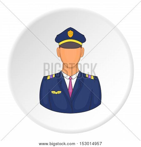 Pilot icon. Flat illustration of pilot vector icon for web