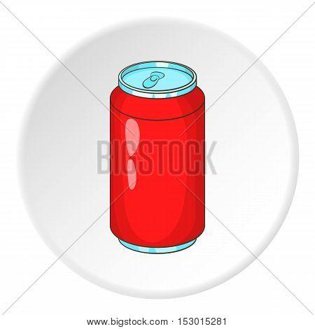Soda can icon. Cartoon illustration of soda can vector icon for web