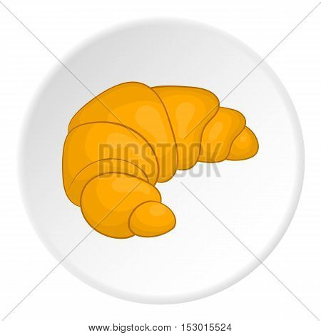 Croissant icon. Cartoon illustration of croissant vector icon for web