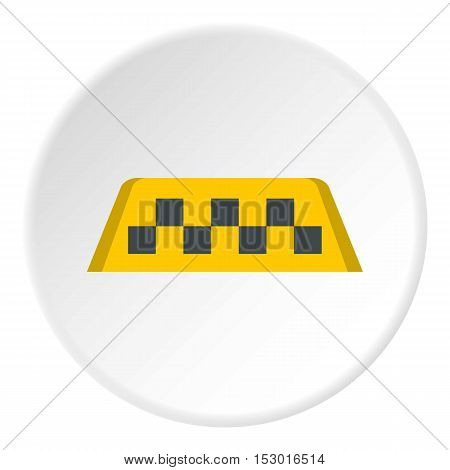 Checker taxi icon. Flat illustration of checker taxi vector icon for web