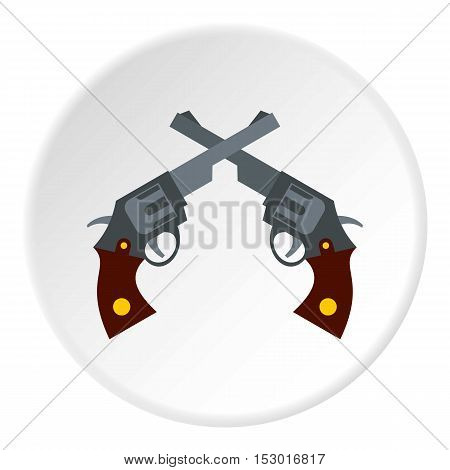 Revolvers icon. Flat illustration of revolvers vector icon for web