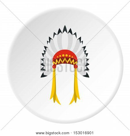 Indian headdress icon. Flat illustration of indian headdress vector icon for web