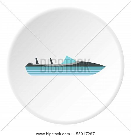 Little powerboat icon. Flat illustration of little powerboat vector icon for web