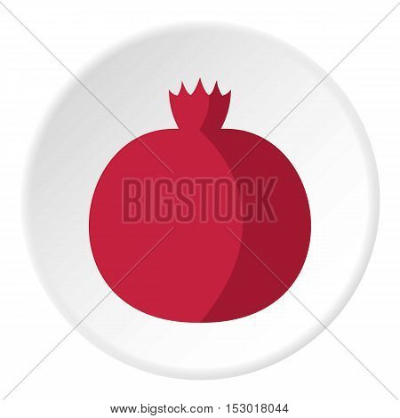Pomegranate icon. Flat illustration of pomegranate vector icon for web