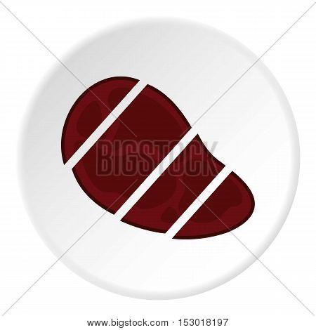 Steak cut into pieces icon. Flat illustration of steak cut into pieces vector icon for web