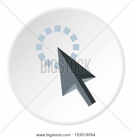 Cursor is pointing icon. Flat illustration of cursor is pointing vector icon for web