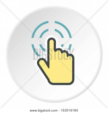 Cursor icon. Flat illustration of cursor vector icon for web