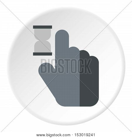 Cursor hand in anticipation icon. Flat illustration of cursor hand in anticipation vector icon for web