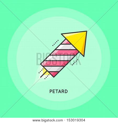Party petard thin line Illustration. Party and Celebration icon.