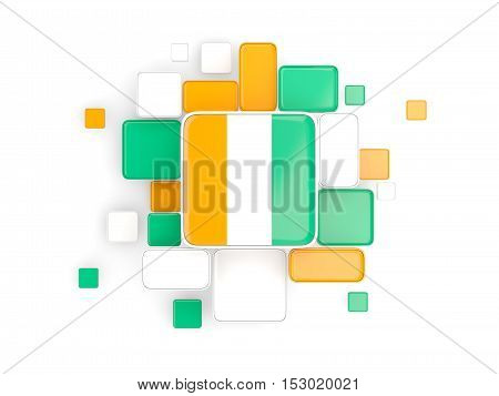Flag Of Cote D Ivoire, Mosaic Background