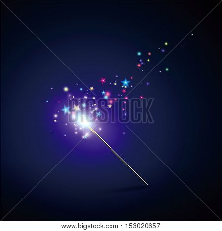Magic Wand,Vector illustration,backgrounds can be used as festivals.