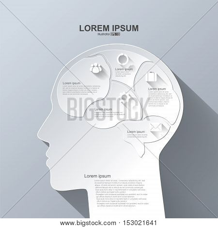 Vector infographics. Brain Abstract background,business concept illustration design.