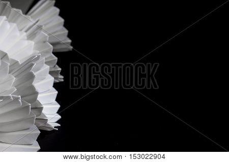 Shuttlecock On A Black Background.