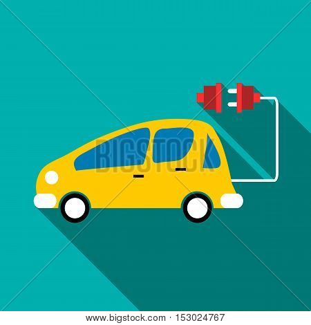 Electro car icon. Flat illustration of electro car vector icon for web