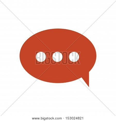 red dialog with white suspending points vector illustration