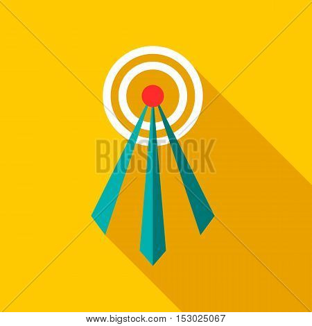 Telecommunication tower icon. Flat illustration of telecommunication tower vector icon for web