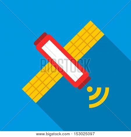 Satellite icon. Flat illustration of satellite vector icon for web