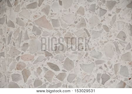 Terrazzo floor, stone wall texture marble surface  background pattern and color