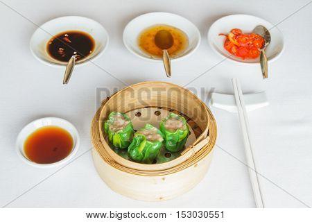 Steamed Shrimp Jade Dumpling