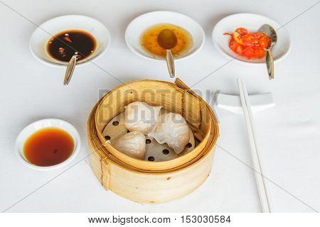 Steamed Shrimp Har Gow Dumpling
