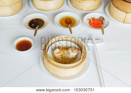 Steamed Shrimp In Spicy Sauce