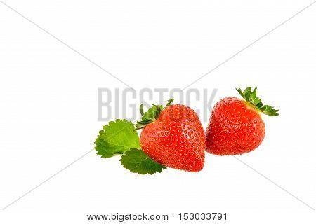 Strawberry on a white background with clipping path