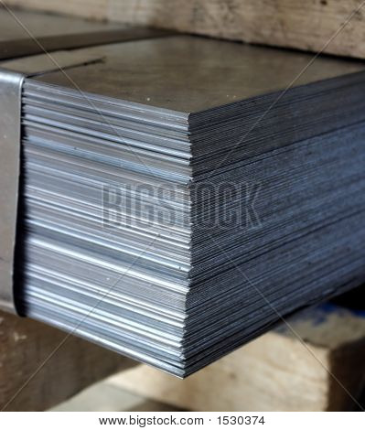 Bale Of Steel Sheet In A Factory