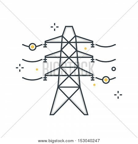 Color Line, Electricity Illustration, Icon