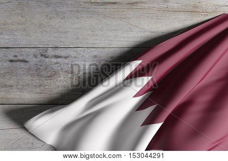 Qatar Flag Waving