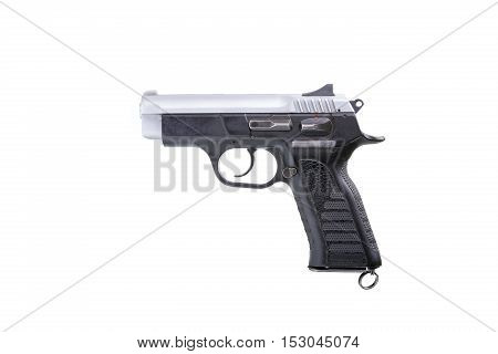 Hand gun isolated on a white background