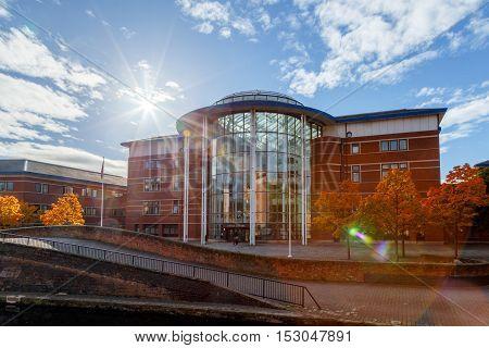 NOTTINGHAM ENGLAND - OCTOBER 19: Nottingham Magistrates court. In Nottingham England. On 19th October 2016.