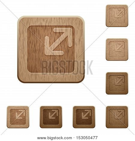 Resize window icons in carved wooden button styles