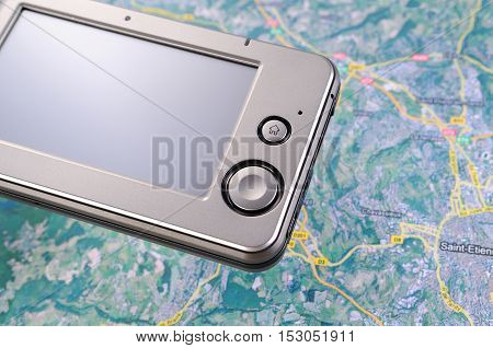 GPS device to search for the road
