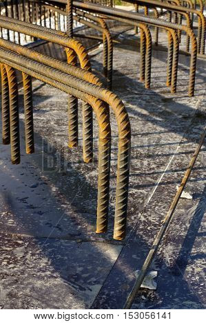 Reinforcing steel structural material form industries theme.