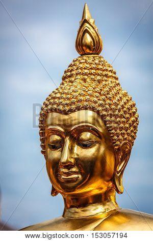 Golden plated Buddha statue in Wat Phra That Doi Suthep, Chiang Mai, Thailand