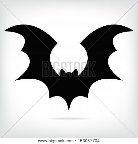 Halloween flying  black bat silhouettes. vector illustration