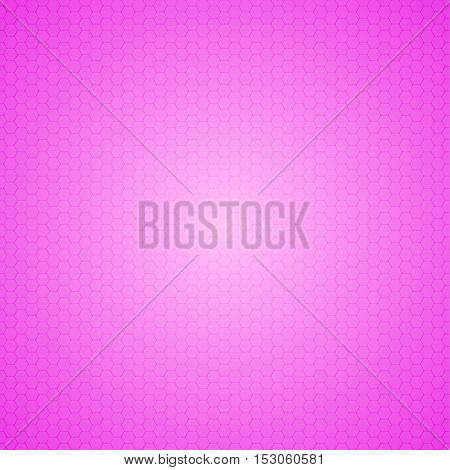 Mosaic Tile Honeycomb Vector Background. Comb Halftone Fone. Pink Background. Vector illustration for Web Design.