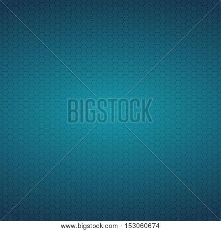 Mosaic Tile Honeycomb Vector Background. Comb Halftone Fone. Blue Background. Vector illustration for Web Design.