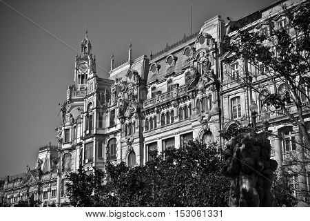 A really beautiful old bank in portugal