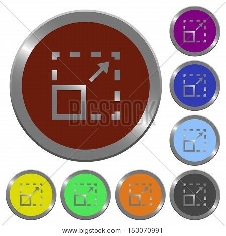 Maximize element icons in color glossy coin-like buttons