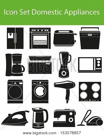 Icon Set Domestic Appliances I