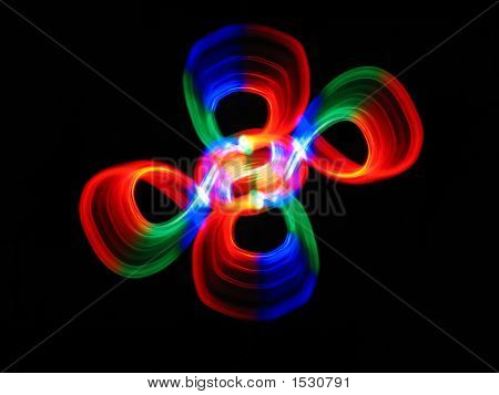 Colorful Abstract Ornament On A Black Background