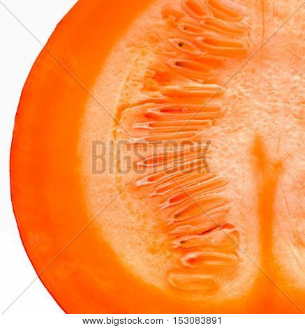 Red Kuri Squash - Orange Hokkaido Pumpkin Isolated On White.