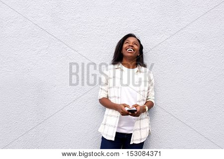 Young Woman Laughing Heartily