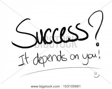 Success it depends on you writing on white paper