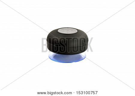 Wireless Bluetooth speaker for computer notebook and smart phone on white background.