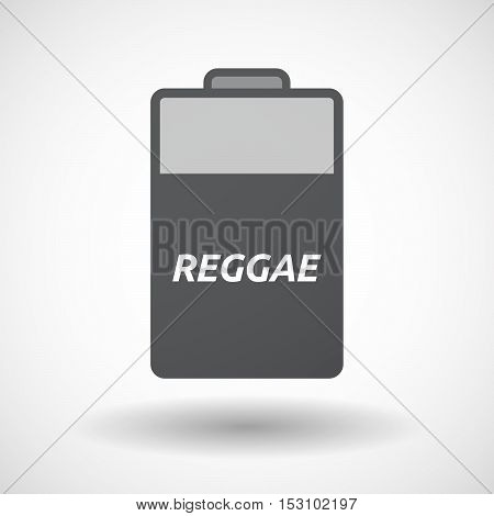 Isolated  Battery Icon With    The Text Reggae
