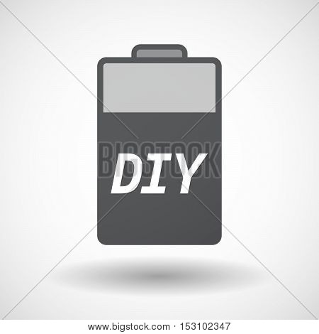 Isolated  Battery Icon With    The Text Diy