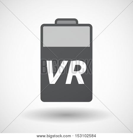 Isolated  Battery Icon With    The Virtual Reality Acronym Vr